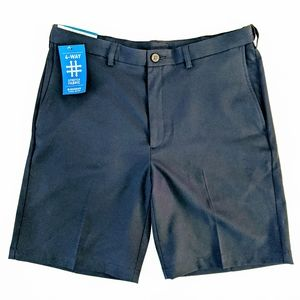 Haggar Cool 18 Pro Mens 36 Golf Shorts Navy Blue